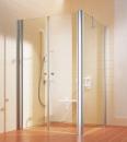 Atea drzwi wahadłowe 80 srebro wysoki połysk/szkło hartowane z powłoką