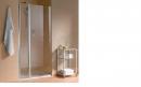 Atea drzwi prysznicowe otwierane z polem stałym lewe 100 srebro wysoki połysk/szkło