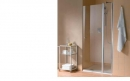 Atea drzwi prysznicowe otwierane z polem stałym prawe 120 srebro wysoki połysk/szkło z powłoką