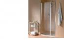 Atea drzwi prysznicowe otwierane z polem stałym prawe 75 chrom/szkło