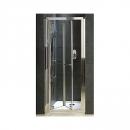 Koło Geo 6 drzwi prysznicowe dwuczęściowe bifold 90 chrom/szkło przezroczyste