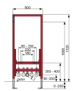 Tece profil stalaż pod bidet podwieszany (9.330.000)