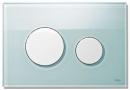Tece przycisk do spłuczki płyta szkło zielone/przyciski białe (9.240.651)