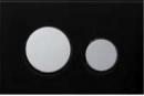 Tece przycisk do spłuczki płytka szklana czarna/przyciski chrom matowy (9240674+9240665)