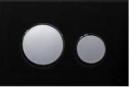 Tece przycisk do spłuczki płytka szklana czarna/przyciski chrom połysk (9240674+9240666)