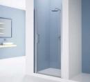 Giada drzwi do wnęki uchylne lewe 69 profil srebro/szkło przezroczyste