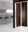 King 2A drzwi do wnęki przesuwne dwuczęściowe 116 profil srebro/szkło przezroczyste