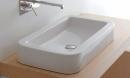 Globo Stone umywalka 72 x 39 stawiana na blat biała