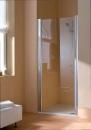 Atea drzwi prysznicowe otwierane lewe 80 srebro wysoki połysk/szkło z powłoką