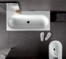 Hatria Daytime umywalka 110 x 50 biała bez otworu pod baterię