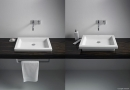 Duravit 2nd floor umywalka stawiana na blat 58 x 41,5 biała
