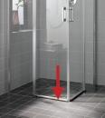 Atea drzwi prysznicowe 2-częściowe z polem stałym po lewej stronie bezprogowe 110 srebro / szkło z powłoką