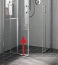 Atea drzwi prysznicowe 2-częściowe z polem stałym po lewej stronie bezprogowe 130 srebro / szkło z powłoką