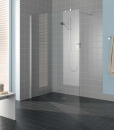 Kermi Filia XP ścianka prysznicowa mocowana do ściany 80 cm srebro wysoki połysk, szkło przezroczyste z powłoką
