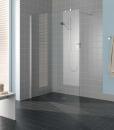 Kermi Filia XP ścianka prysznicowa mocowana do ściany 140 cm srebro wysoki połysk, szkło przezroczyste z powłoką