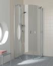 Kermi Raya kabina ćwierćkolista profil srebro szkło przeźroczyste z powłoką 80x80 cm