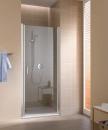 Cada XS drzwi wahadłowe jednoskrzydłowe prawe 80 profil srebro wysoki połysk, szkło hartowane z powłoką CadaClean