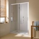 Cada XS drzwi przesuwne 120cm 2-częściowe, profil srebro wysoki połysk, szkło hartowane z powłoką CadaClean
