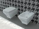 Artceram Jazz miska WC podwieszana z deską wolno opadającą biały