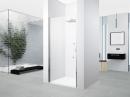 Novellini Young 2.0 drzwi prysznicowe do wnęki 72-76cm chrom szkło przezroczyste z powłoką