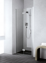 Kermi Liga drzwi wahadłowo-składane lewe 100 szkło hartowane z powłoką Kermi Clean profil srebro wysoki połysk  LI2SL10020VPK