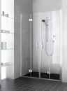 Kermi Liga drzwi wahadłowo-składane 4-częściowe 120 profil srebro wysoki połysk szkło hartowane z powłoką LI2T412020VPK