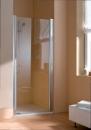 Atea drzwi prysznicowe otwierane prawe 100 srebro wysoki połysk/szkło z powloką