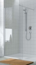 Atea ścianka boczna wolostojąca 100 srebro wysoki połysk/szkło hartowane z powłoką