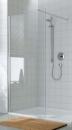 Atea ścianka boczna wolostojąca 120 srebro wysoki połysk/szkło hartowane z powłoką